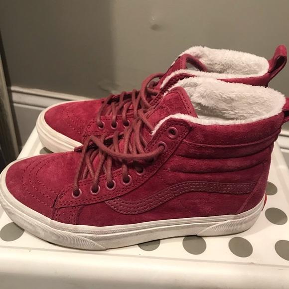 Vans Shoes | Hi Top With Faux Fur